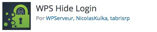 Logotipo do plugin WPS Hide Login desenvolvido por WPServeur, NicolasKulka e tabrisrp.